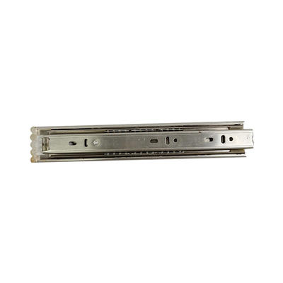 Stainless steel drawer slides triple-folded steel ball slideway HY-TS4303